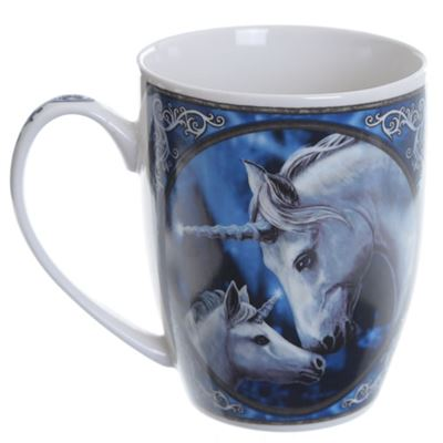 Unicorn & Foal Bone China Mug by Lisa Parker